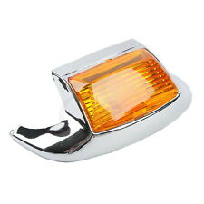 Chrome Orange Front Fender Tip Light For Harley FLSTC Heritage Softail Classic
