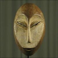 59631) Afrikanische Lega Holz Maske Kongo Afrika KUNST