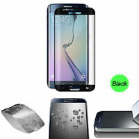 Black Full Cover Tempered Glass Screen Protector For Samsung Galaxy S7 Edge