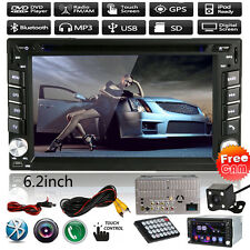 "6.2"" HD 2DIN In Dash GPS Nav Car Stereo Radio DVD MP3 Player Bluetooth TV+Camera"