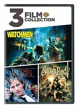 New! 3 Film Collection, Watchmen / Ahistory of Violence / Sucker Punch (Dvd)
