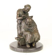 Bronze Skulptur Chinesische Friseur Szene Figuren-Paar neu 99937968-dss