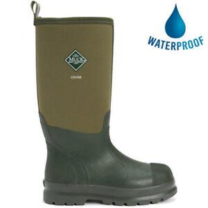 Muck Boots Chore Hi Wellies Mens Womens Green Wellington Boots Size 4-13