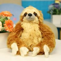 12'' Sloth Plush Animals critters Lying Three Toed Cuddly Soft Stuffed Toy Teddy
