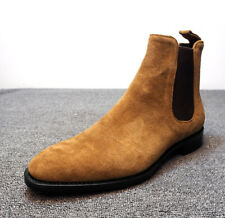 Men's Suede Ankle Boots Chelsea Boots Dress Formal Casual High Top Shoes Fashion