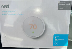Nest Learning Thermostat E with Temperature Sensor / White NEW