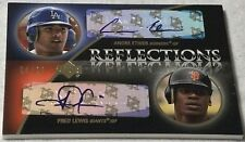 2007 Exquisite Rookie Signatures Reflections Gold #EL Andre Ethier Fred Lewis 20