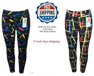 Women Reflective High Waist Leggings Super Stretch Size M/L Pencil Jegging Pants