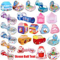Kinderzelt mit Tunnel Spielzelt Bällebad Bälle Zelt Krabbeltunnel Nylon DE