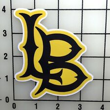 """Long Beach State 4"""" Tall Color Vinyl Decal Sticker BOGO"""