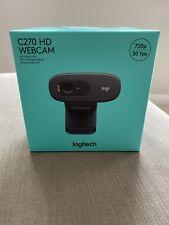 Logitech C270 HD Web Cam 720p - Black