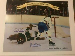 Jean Beliveau's 500th Goal double autographed 16 x 20 (with COA)