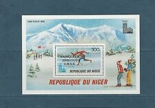 Niger  bloc jeux olympiques de Lake Placid  surchargé  1980  num:  29  **