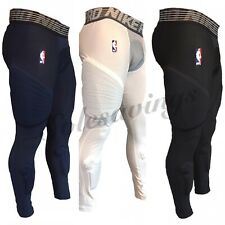 Nike NBA Pro Hyperstrong Padded Basketball Compression Pants Blue-White-Black