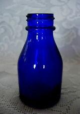 Vintage Collectible Cobalt Blue Blown Glass Miniature Vicks Bottle
