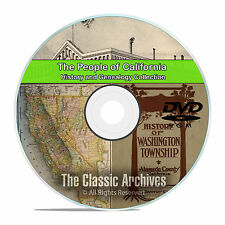 California CA, People, Cities, Towns, History and Genealogy 27 books DVD CD V95
