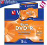 5 DISCOS VERBATIM 8 CM 4 X MINI DVD-R 1400 MB DVDS 1.4 GB SLIM JEWEL CASE 43510