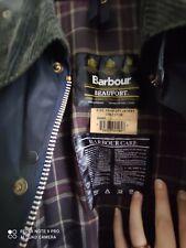 Barbour Beaufort Jacket Waxed Cotton Blu Giacca Cerato C46-117cm ( XL )