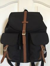 HERSCHEL SUPPLY CO. *DAWSON* SMALL BACKPACK BLACK/TAN *EUC*