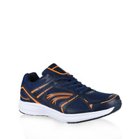 Mens Lightning Bolt Harvey Navy Sneakers Runners Casual Athletic Comfort Shoes