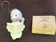 Precious Moments Ornament~15th Anniversary Angel~ Tweet Music Together