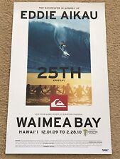 Quiksilver Eddie Aikau Would Go 2009-2010 Waimea Bay Hawaii 25th Annual Poster