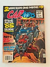 CAR TOONS Feb. 1985 CARTOONS  COMIC MAGAZINE  WITH 2 IRON ONS