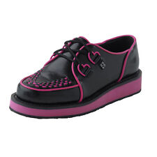 black/pink creepers A7801 Ladies Size UK7/EU40