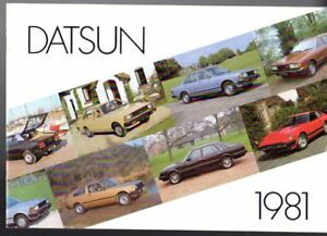 Datsun Nissan Range 1981-82 UK Brochure Cherry Sunny Bluebird Laurel Skyline 280