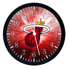 Miami Heat Black Frame Wall Clock Nice For Decor or Gifts W60