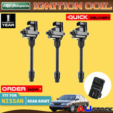 3x Rear Right Ignition Coil For Nissan Maxima A32 Infiniti I30 3.0L 1995-1999
