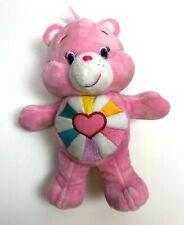 "Care Bears Plush Stuffed Animal Hopeful Heart Pink Embroidery 9"""
