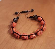 Skull Totenkopf Armband Orange  - Bracelet - NEU