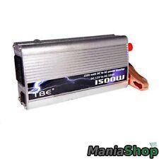 INVERTER 1500W WATT 12V 220V TRASFORMATORE AUTO CAMPEGGI BARCA CAMPER PRESA USB
