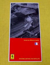 Ferrari Owners Handbook RARE Supplement - Security NavTrack - French Text 2007