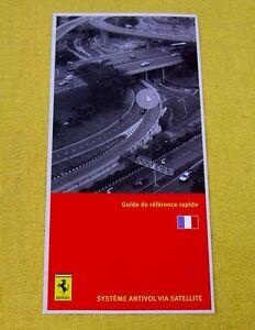 Ferrari Owners Handbook RARE Supplement - Security NavTrak - French Text - 2007