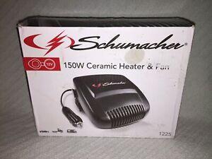 Schumacher 12V 150W Ceramic Heater & Fan - Model 1225 - Defrosts - Defogs - Blac
