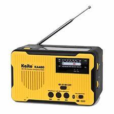 Kaito KA400 Emergency AM FM NOAA Weather Alert Radio with Solar Bluetooth MP3