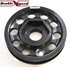 BLACK SINGLE BELT Crank Pulley for  94-01 Integra 88-00 Civic 88-91 CRX B16AB18A
