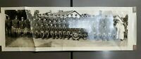 """Panoramic Military Photo A Btry 146 FA Camp Eugene Moshberger 1938 6.5"""" x 20.25"""""""