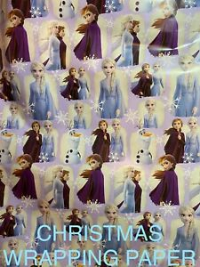 DISNEY FROZEN CHRISTMAS HOLIDAY GIFT WRAPPING PAPER - 20 SQ FT🎄🎁 FREE SHIPPING
