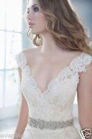 New White Ivory Mermaid Wedding Dress Bridal Gown Custom Size 6 8 10 12 14 16 18