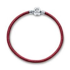 "Chamilia Red Metallic Leather Bracelet 7.9"" MLR-4  NEW Authentic  RETIRED"