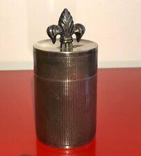 antike Dose Schmuck oder Tabak * französische Lilie *Silber oder versilbert?
