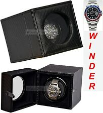 Luxury Display Single Automatic Watch Winder-model Leathertex-1snk Snake Skin