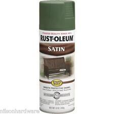 6 Pk Spruce Green RustOleum Stops Rust Indoor/Outdoor Satin Spray Paint 7737-830