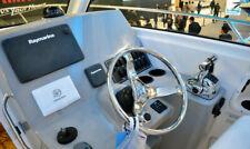 280mm Dia Stainless Steel Boat Steering Wheel 5 Spoke 25 Degree for Marine Yacht