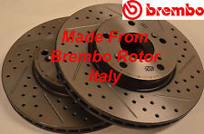 Fits 98-02 Accord 3.0 Drilled Slotted Rotors Harmonically Balanced F+R Set
