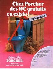 PUBLICITE ADVERTISING 064  1984  PORCHER     les wc  SALONS DE BAIN