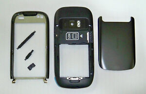 Full black fascia housing cover facia faceplate case for Nokia C7 black